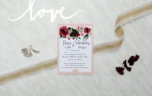 boho zaproszenie na ślub