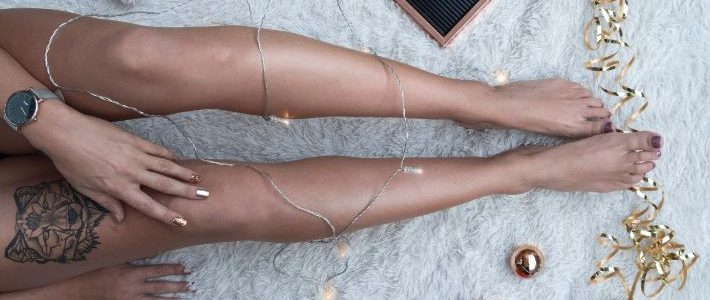 nogi po depilacji laserowej